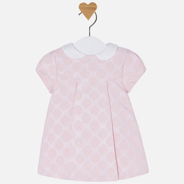 Mayoral ベビー女の子用、半袖ドットドレス/Baby girl short sleeve dress in polka-dot jacquard