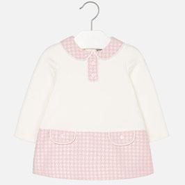Mayoral 女の子用ポンテジャージードレス/Baby girl long sleeve dress in ponte knit