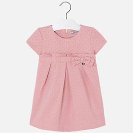Mayoral ガールズポンテジャージードレスピンク/Girl ponte knit dress with short sleeves pink