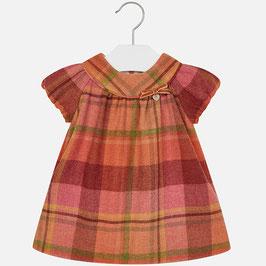 Mayoral 女の子用チェック半袖ドレス/Baby girl flannel checkered short sleeve dress