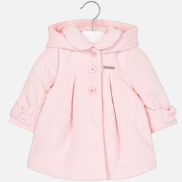 Mayoral ベビー女の子用コーデュロイコート ピンク/Girl corduroy coat with hood Pink