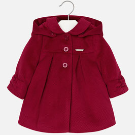 Mayoral ベビー女の子用コート赤/Girl corduroy coat with hood Red