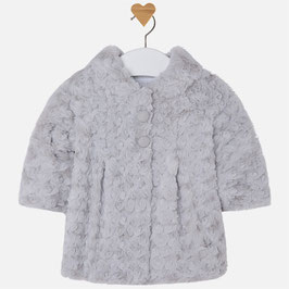 Mayoral ベビー女の子用ファーコート/Baby girl jersey and faux fur coat