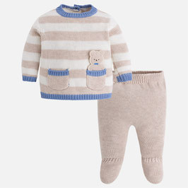Mayoral ベビー男の子用ニット上下/Baby boy set of knit jumper and footed trousers