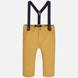 Mayoral 男の子用チノパン(サスペンダー付き)/Baby boy long chino trousers with suspenders