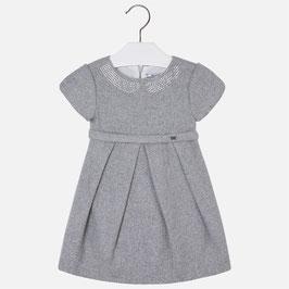 Mayoral ガールズドレス/Girl short sleeve dress with strass on neckline