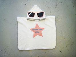 """Poncho de bain """"Je suis une star"""""""