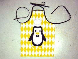 Tablier de cuisine enfant en coton - pingouin