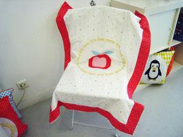 """Couverture bébé motif """"Pomme d'amour"""""""