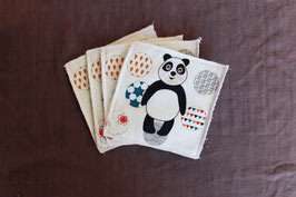 lot de 4 lingettes panda