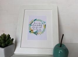 Carte postale Couronne de fleurs - Citation de Matisse