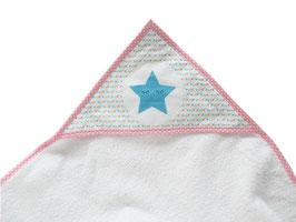 cape de bain motif étoile et fanions
