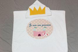 """Poncho de bain """"Je suis une princesse"""""""