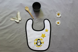 Bavoir éponge pingouin jaune