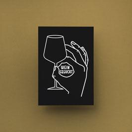 Weingeguckt DIN A6 schwarz
