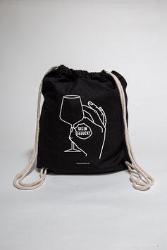 Weingeguckt Turnbeutel schwarz