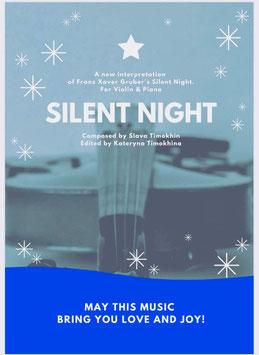 """""""Stille Nacht"""" - für Violine (oder Flöte) und Piano - """"Silent Night"""" NEW Arrangement"""
