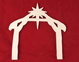 Sujets en bois pour décoration en kit : la crèche de Noël