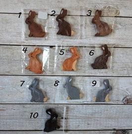 Les lapins assis