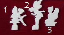 Sujets en bois pour décoration en kit: les personnages
