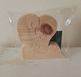 Puzzles en bois 3D : coeur