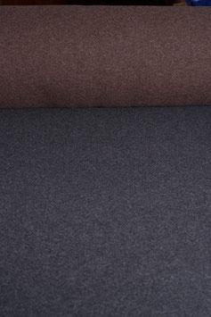 Designer Walkloden-Doubleface - weich, braun-grau