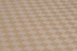 0,5 m - Bio-Baumwolle, kariertes Muster, Beige-Braun