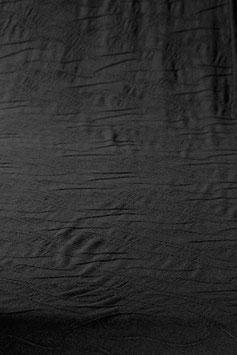 0,5 m - Noble designer wool jersey in wave look - black