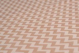 Bio-Baumwolle, Zickzack-Muster, Beige-Braun | BIOB 0005