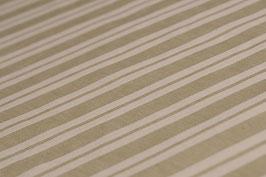 0,5 m - Bio-Baumwolle, Gestreift-Muster, Beige-hell Oliv