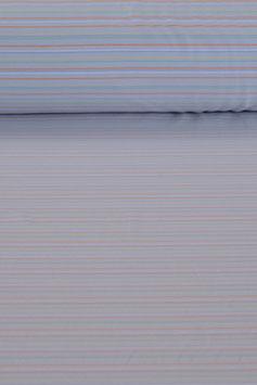 Baumwolljersey - Bunt/Blau gestreift | BWJ 0012
