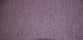 Walkloden Grau/Flieder kariert, reine Wolle - Made in Austria