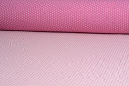 Designer-Walkloden - Doubleface - Rosa-Weiß gepunktet