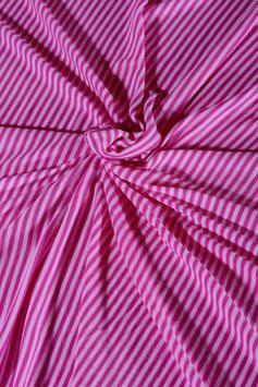 0,5 m - Pink raspberry striped wool jersey