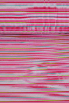 Baumwolljersey - Rosa/Pink gestreift | BWJ 0015