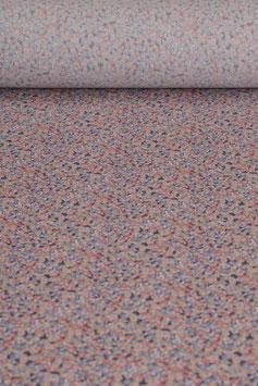 0,5 m - Baumwollstoff gewebt - Blumenmuster BS 0009