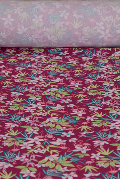 0,5 m - Baumwollstoff gewebt - Flamingos
