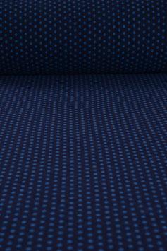 Walkloden aus Tirol weicher blau gepunkteter Wollstoff Designerwalk