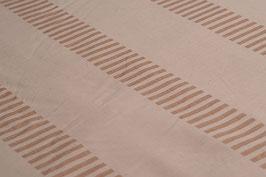 0,5 m - Bio-Baumwolle, Rechteck-Muster, Beige-Braun