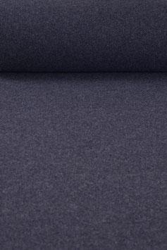 Fischgrät Designerwalk, weicher blauer Doubleface Wollstoff - Made in Tirol