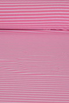 Baumwolljersey - Pink/Weiß gestreift | BWJ 0005