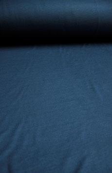 0,5 m - Woll-/Baumwolljersey - Jeansblau