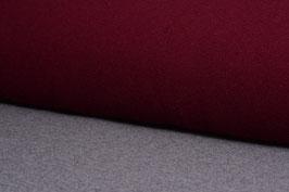 Designer Walkloden-Doubleface - weich, rot-grau