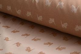Bio-Baumwolle, Kätzchen-Muster, Braun