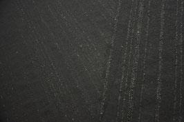 Struktur-Walkstoff | Schwarz, gestreift