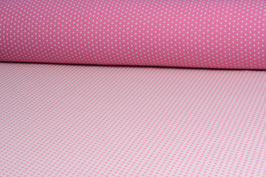 Designer Walkloden-Doubleface - weich, rosa-weiß gepunktet