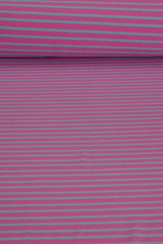 Baumwolljersey - Pink gestreift | BWJ 0025
