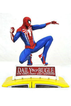 Marvel Gallery PVC Diorama PS4 Spider-Man on Taxi 23 cm