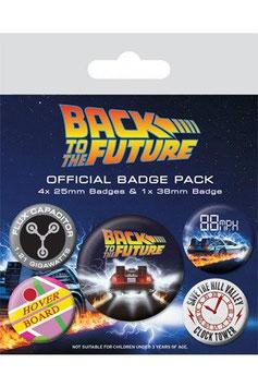 Zurück in die Zukunft Ansteck-Buttons 5er-Pack DeLorean    282