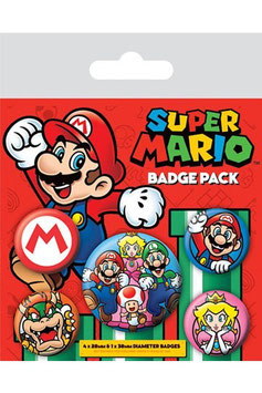 Super Mario Ansteck-Buttons 5er-Pack    280